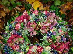 wianek jesień kwiaty